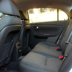Functional backseat, but cheap hard plastics abound