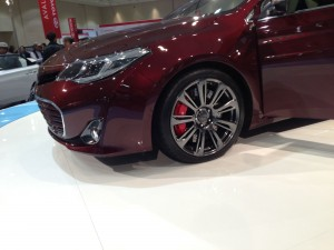 Toyota's 2013 Avalon sporting some serious looking wheels and brakes