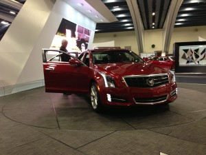 The Cadillac ATS spokesmodel didn't look happy to be there