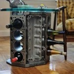 Engine cylinders make great wine holders